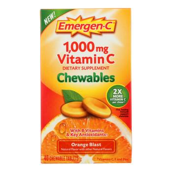 Emergen-c - Chewables Orange Blast - 1 Each - 40 Ct