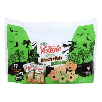 Sensible Portions Garden Veggie Ghosts + Bats Sea Salt Chips  - Case Of 12 - 12/.5 Oz