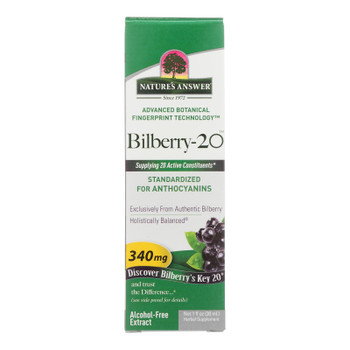 Nature's Answer - Bilberry 20 Af - 1 Each - 1 Fz
