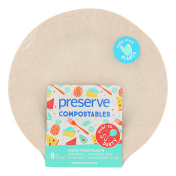 Preserve Compostables Small Compostable Plates  - Case Of 12 - 8 Ct