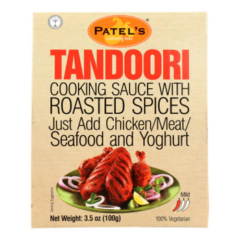 Patel's Tandoori Cooking Sauce With Roasted Spices - Case Of 4 - 6 Pack