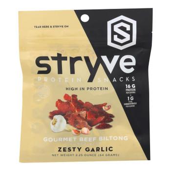 Stryve Foods - Beef Biltong Spicy Garlic - Case Of 12-2.25 Oz