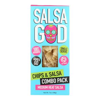 Salsa God - Chip & Salsa Pack Medium - Case Of 6 - 7 Oz
