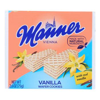 Manner - Wafer Vanilla - Case Of 12 - 2.65 Oz