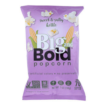 Big And Bold - Popcorn Sweet And Salty - Case Of 6-7 Oz