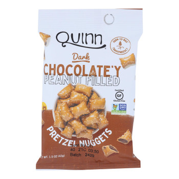 Quinn Popcorn - Pretz Nug Pb/choc Filled - Case Of 8-1.5 Oz