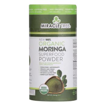 Miracle Tree - Moringa Powder Organic - Case Of 6 - 8 Oz