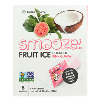 Smooze - Fruit Ice Coconut W/guava - Case Of 6-17.6 Fz
