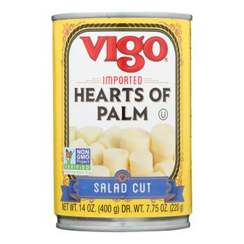 Vigo Salad Cut Hearts Of Palm - Case Of 12 - 14 Oz