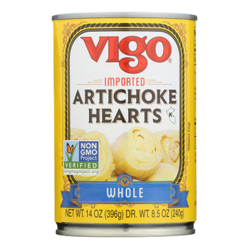 Vigo Imported Whole Artichoke Hearts - Case Of 12 - 14 Oz