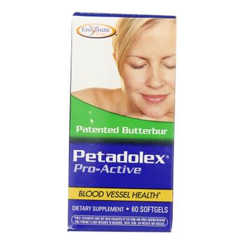Enzymatic Therapy Petadolex Pro-active Dietary Supplement  - 1 Each - 60 Sgel