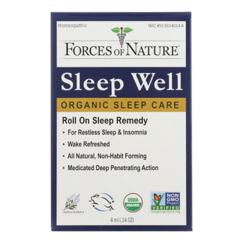 Forces Of Nature - Sleep Well Control - 1 Each - 4 Ml
