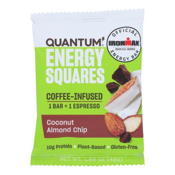 Quantum Energy Squares - Bar Coconut Almond Chip - Cs Of 8-1.69 Oz