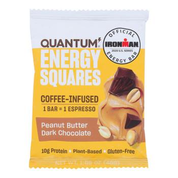 Quantum Energy Squares - Bar Pnut Bttr Dark Choc - Cs Of 8-1.69 Oz