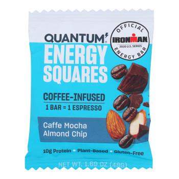 Quantum Energy Squares - Bar Caffe Mocha Almd Chip - Cs Of 8-1.69 Oz