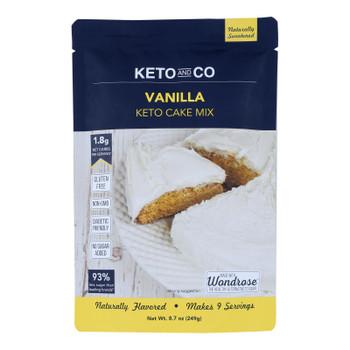 Keto & Co - Cake Mix Keto Vanilla - Case Of 6-8.7 Oz