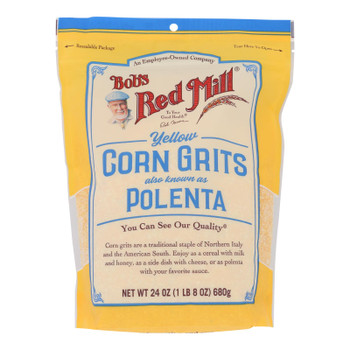 Bob's Red Mill - Polenta Yellow Crn Grits - Case Of 4-24 Oz