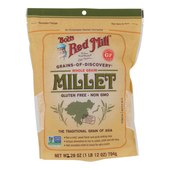 Bob's Red Mill - Millet Whole Grain Gluten Free - Case Of 4-28 Oz