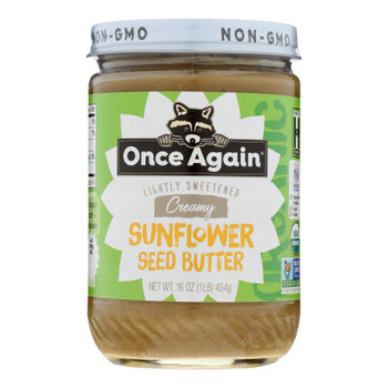 Once Again - Sunflower Butter Smooth - Case Of 6-16 Oz