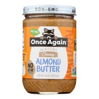 Once Again - Almond Butter Classic No Stir Ntrl - Case Of 6-16 Oz