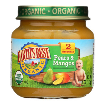 Earth's Best - Stage 2 Pears & Mangos - Case Of 10-4 Oz