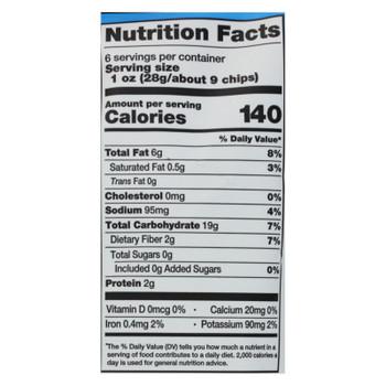 Dean Street Taco Chips - Taco Chips Sea Salt - Case Of 12 - 6 Oz
