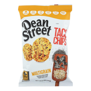 Dean Street Taco Chips - Taco Chips Multigrain - Case Of 12 - 6 Oz