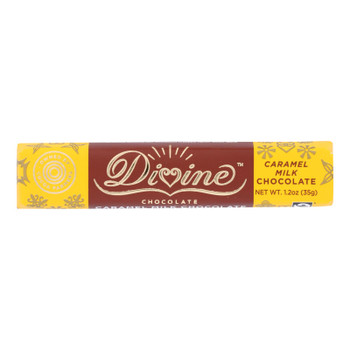 Divine - Snack Bar Milk Chocolate Caramel - Case Of 18 - 1.2 Oz