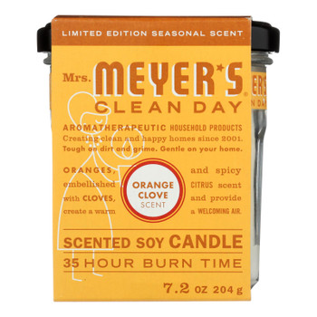 Mrs.meyers Clean Day - Soy Candle Orange Clove - Case Of 6 - 7.2 Oz