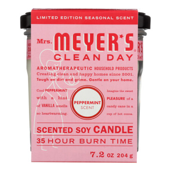 Mrs.meyers Clean Day - Soy Candle Peppermint - Case Of 6 - 7.2 Oz