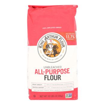 King Arthur Flour All-purpose Unbleached Flour  - Case Of 4 - 10#