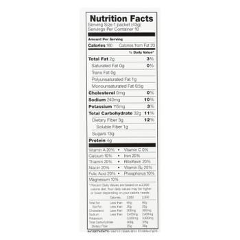 Mccann's Irish Oatmeal - Oatmeal Maple Brown Sugar - Case Of 12-15.1 Oz