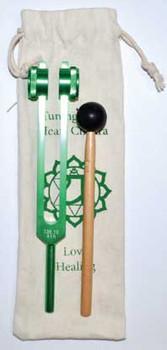 "8 1/2"" Heart (green) Tuning Fork"