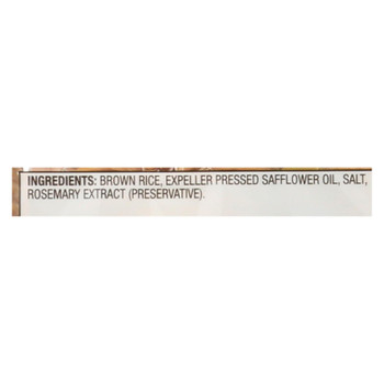 Sesmark Foods Rice Thins - Brown - Case Of 12 - 3.5 Oz.