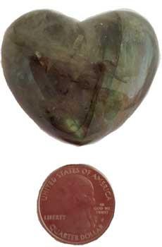 """1 3/4"""" Labradorite Heart"""