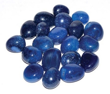 1 Lb Onyx, Blue Tumbled Stones (heat Treated)