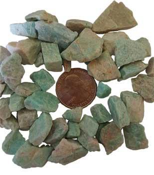 1 Lb Amazonite Untumbled Stones