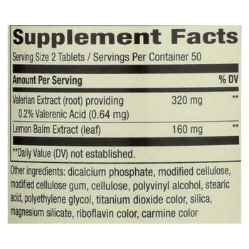 Nature's Way - Valerian Nighttime - 100 Tablets