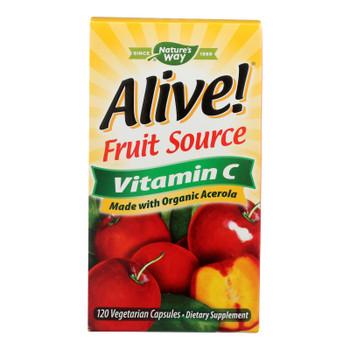 Nature's Way - Alive! Fruit Source Vitamin C - 120 Vegetarian Capsules