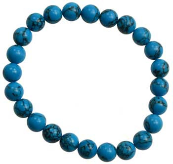 8mm Turquoise Bracelet (synthetic)