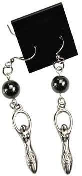 Hematite Goddess Earrings
