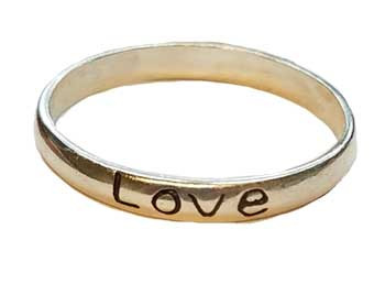 Love Band Ring Size 9 Sterling