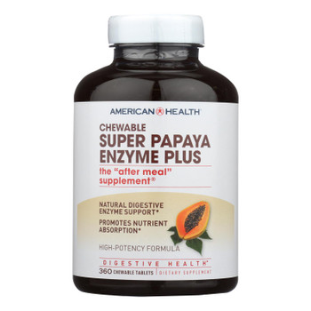 American Health - Super Papaya Enzyme Plus Chewable - 360 Chewable Tablets