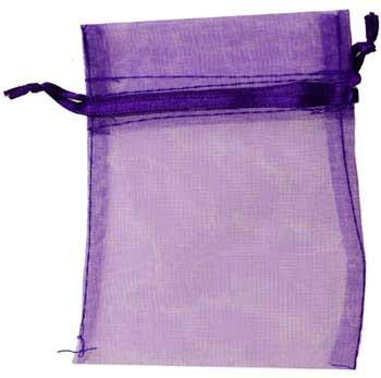"2 3/4"" X 3"" Purple Organza Pouch"
