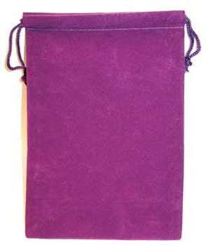 """Purple Velveteen Bag - 5"""" x 7"""""""