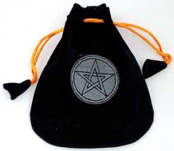 """Pentagram Velveteen Black Bag  5"""""""