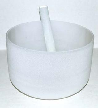"""8"""" Off White Crystal Singing Bowl"""