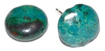 Chrysocolla Stud Earrings