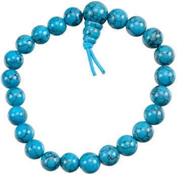 Turquoise (synthetic) Power Bracelet
