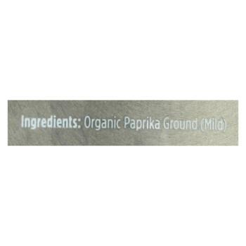 Spicely Organics - Paprika Og2 Mild - Cs Of 2-3 Oz